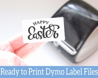 Easter Printable Labels - Happy Easter Dymo Compatible Ready-to-Print Labels for Small Business