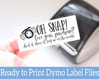 Love your Purchase Labels - Ready to Print Packaging Stickers -Digital Download Dymo Label Designs -Dymo Compatible Label Files for Sellers