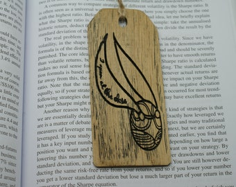 Hogwarts Wooden Craft Handmade Harry Potter Wooden Bookmarks Wizard Wagic Wand Golden snitch Personalised Wooden Bookmarks Gift Idea