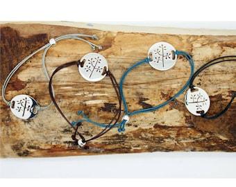 Leather 'Tree' Friendship Bracelet TPP054