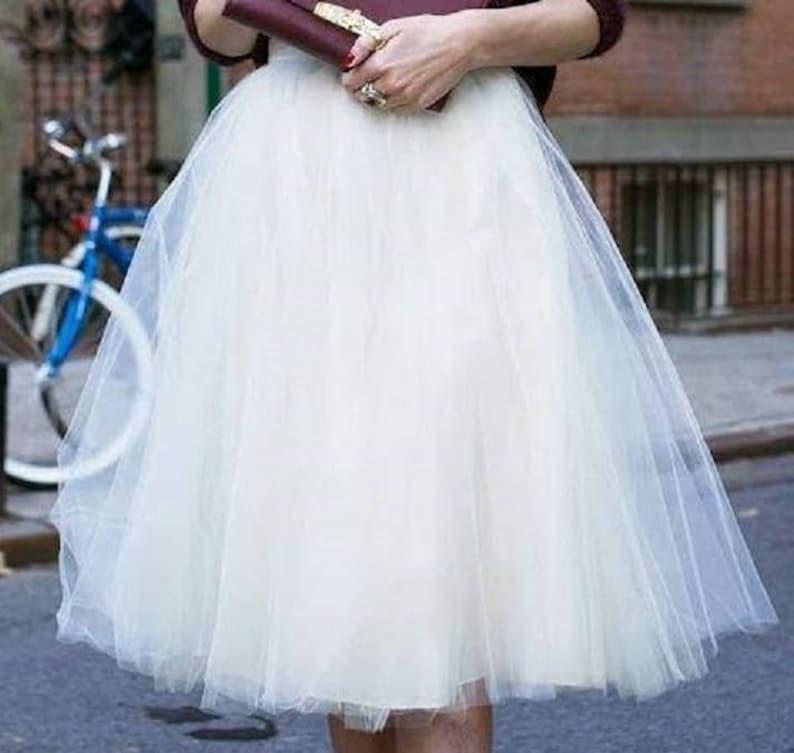 ERIKA Bridal Tulle Short Skirt Ivory Wedding Skirt Bridal Separates Wedding Separates bridesmaid tulle skirt Plus Size Available