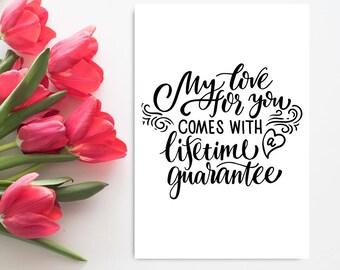 Romantic Anniversary Card for Boyfriend, Printable Anniversary Card for Him, Romantic Birthday Card for Husband, Girlfriend, Wife