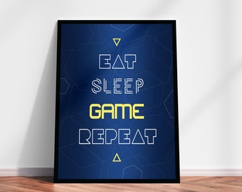 Game Room Wall Art Etsy