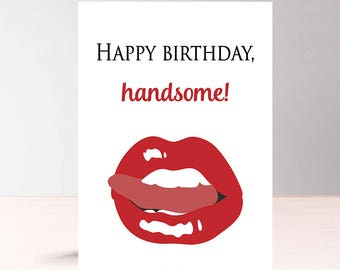 Funny Birthday Card For Him Printable Birthday Card For Etsy