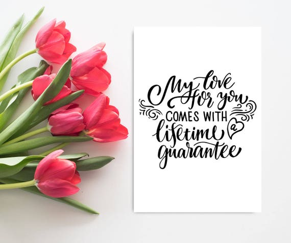 Romantic Anniversary Card For Boyfriend Printable Anniversary Etsy