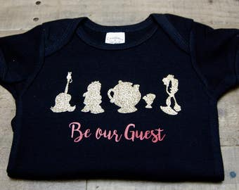 Beauty and the Beast onesie - Be Our Guest onesie -Disney's Beauty and the Beast