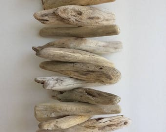 Driftwood Garland, Drift Wood Wall Decor, Driftwood Hanging Garland,  Driftwood Mobile, Wall Hanging Coastal, Beach Decor, Driftwood Wall Art