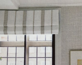 linen window shades vintage style make your own roman shades linen roman shades etsy