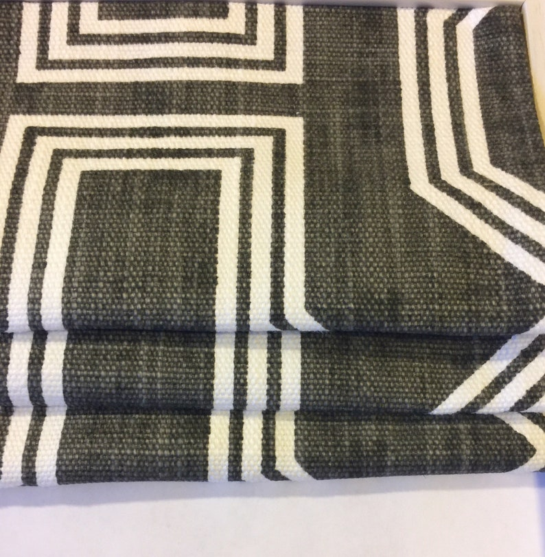 Custom Roman Shade in Nasco Graphite Gray