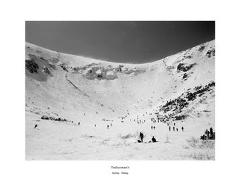 SPECIAL Tuckerman Ravine B&W 20 x 24 with magnet  FREE SHIPPING !