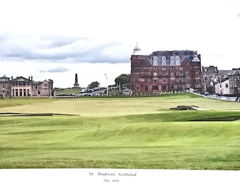 Panoramic St. Andrews the 18 th Old Course