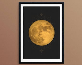 Rose gold decor rose gold map rose gold world map rose gold gold moon print sacred geometry gold moon art gold moon decor la luna gumiabroncs Image collections