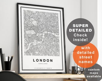 Subway Map Wall Art Wall Art Stickers Wall Decal Huge Underground Tube Map.Map Of London Etsy