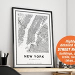 New York Map, New York Print, New York City Map, Manhattan Map Print, NYC Map Print, Manhattan Poster, NY Map, Map Of NYC