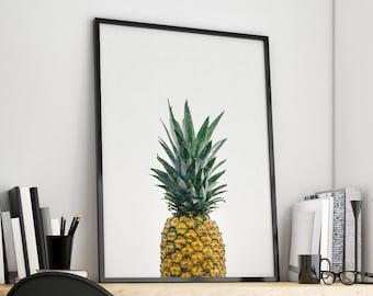 Pineapple Print, Pineapple Wall Art, Pineapple Poster, Pineapple Art, Printable Pineapple, Pineapple Decor, Pineapple Wall Decor, Fruit Art
