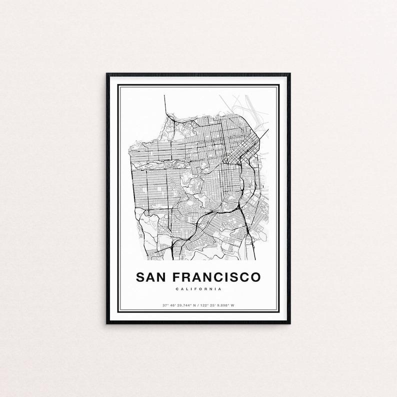 San Francisco Map San Francisco City Map Art San Francisco