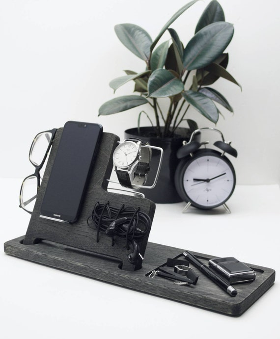 Iphone docking station wood, Charging station, Dock apple, Iphone dock wood, Stand iphone, Desk organizer, Stand watch, Iphone dock charger