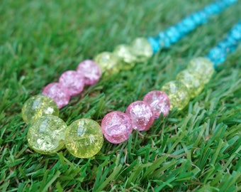 Yellow, Pink & Turquoise Pop Necklace