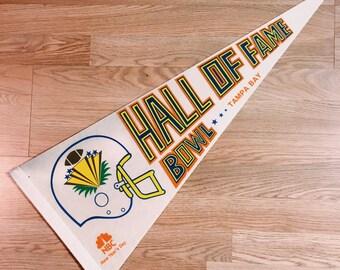 Vintage Tampa Bay Hall of Fame Bowl Pennant