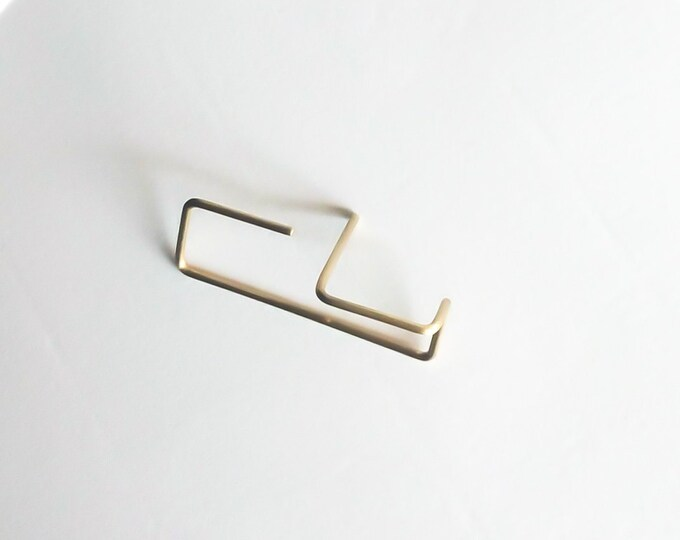 Minimalist line earrings ~ Staple , Bar Threaders  - Geometric , Modern Threaders ,Simple earrings Rose Gold