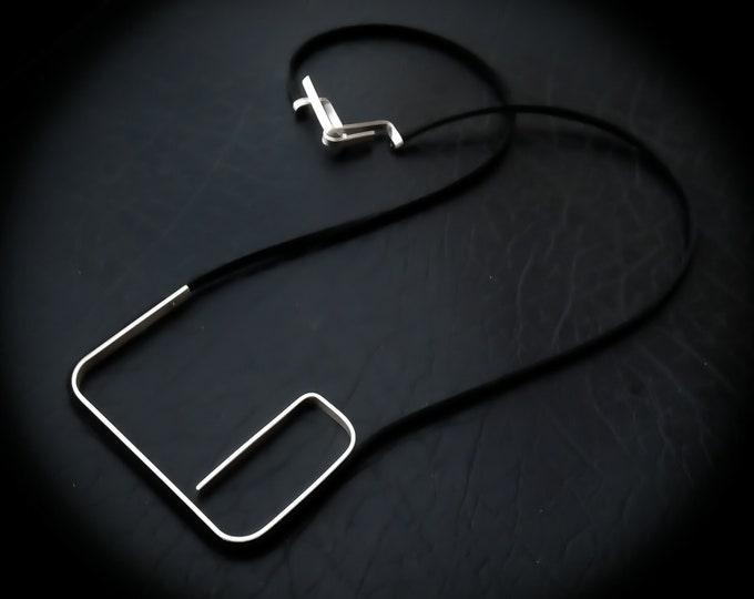 Unique Geometric necklace - Architectural necklace - Large Minimalist necklace - Modern Statement necklace