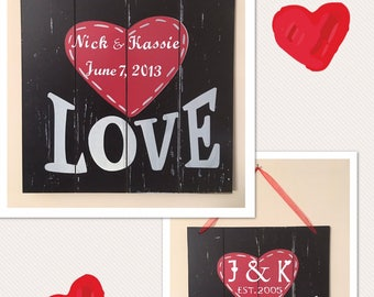 Items Similar To The Key To My Heart Sign Hand Painted Wood Sign