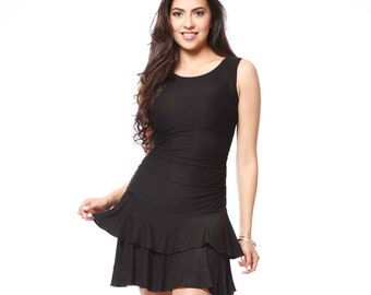 Claire's Two-Layer Pleated 100% Bamboo Dress