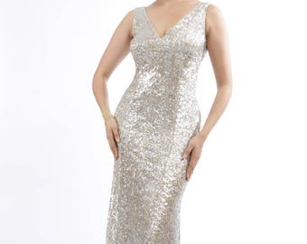 Falicia's Carpet Sequins Evening Gown