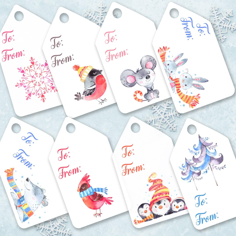 Christmas Printable Tags Christmas gift tags Printable pdf ...