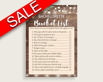 Bachelorette Bucket List Bridal Shower Bachelorette Bucket List Rustic Bridal Shower Bachelorette Bucket List Bridal Shower Flowers SC4GE