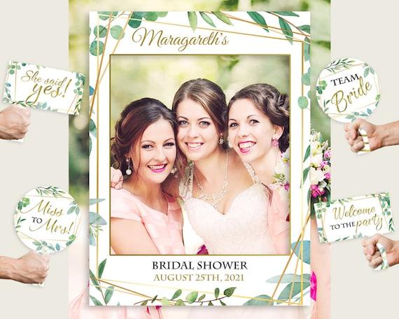Wedding Photo Props Bridal Shower Decoration Bridal Shower Photo Prop Bridal Shower Sign yv133 Green Bridal Shower Photo Booth Frame