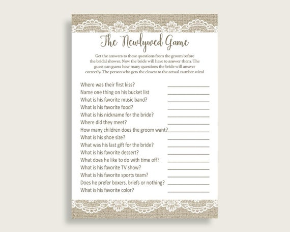 Not so newlywed game questions