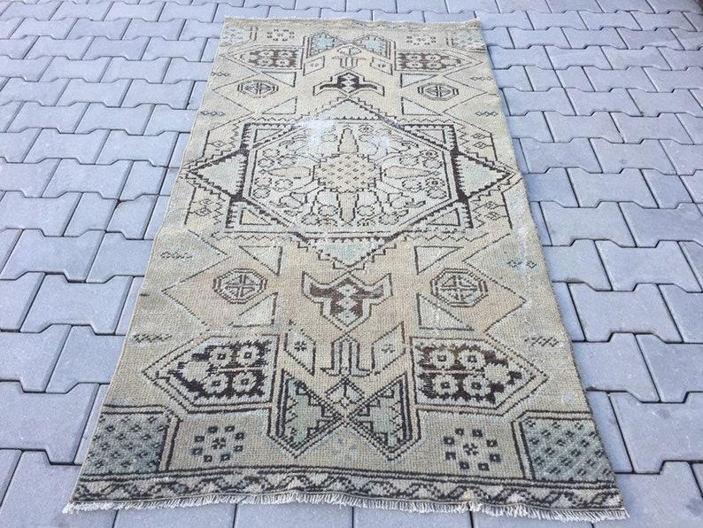 Bohemian Area Rug Beige Carpet Rug Vintage Rug Handmade Rugs Beige Oushak Rug Decorative Rug 3 1 X 6 1 Ft 95 X 185 Cm
