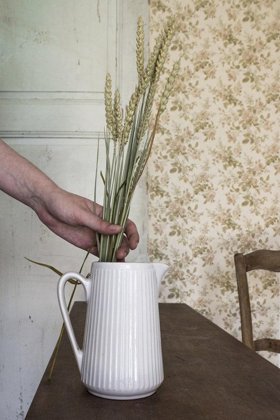 French White Pitcher Vase French Pitcher Vintage French Etsy