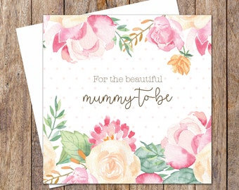 Pink Baby Shower Cards. Newborn Baby Card. Floral Baby Shower. Baby Girl Card. Baby Shower Card Girl. Flower Baby Card. Mummy-to-be Cards