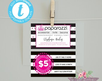 Paparazzi business cards etsy paparazzi business cards reheart Images