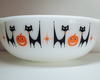 Atomic Cat Halloween for Pyrex Decal - Decal only - bowl not included