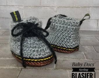 ff965b8c384 Dr. Martens - gehaakte Baby slofjes-Baby Boy kleding - Baby-slofjes -  Newborn meisje Coming Home Outfit - Baby Girl - Docs - Dr. Martens schoenen