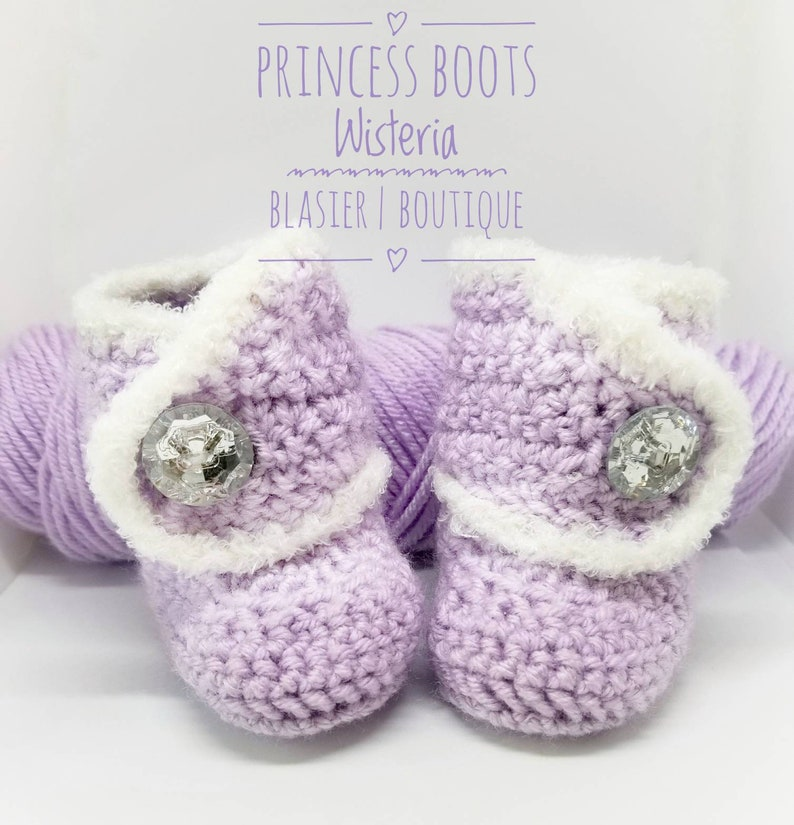 ce187599fb6ef Princess Crochet Boots-Baby Girl Clothes - Baby Photo Prop - Newborn Baby  Booties - Newborn Girl Coming Home Outfit - Baby Girl Shoes -