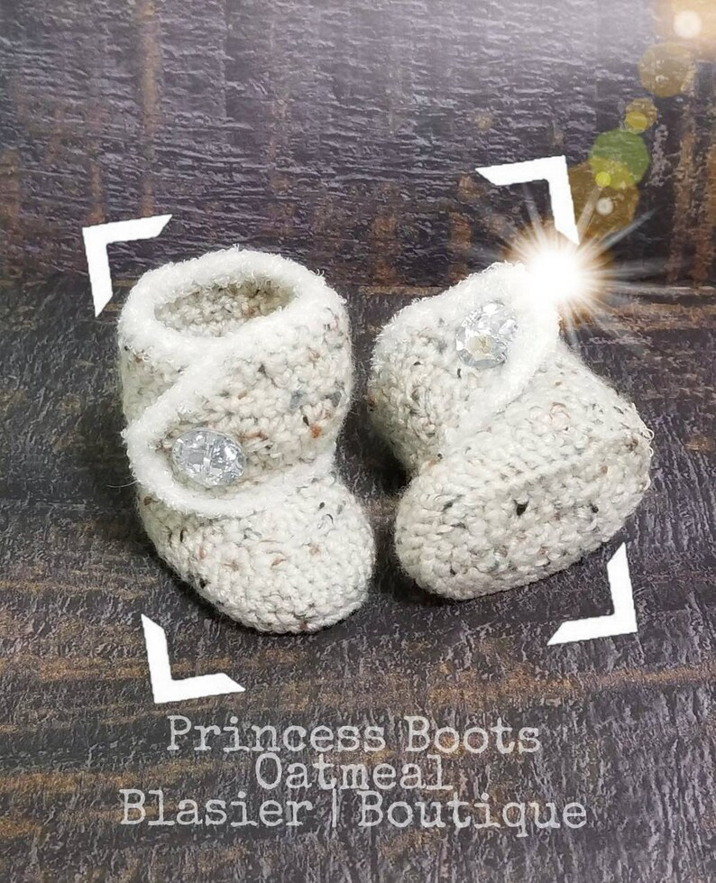 24a9c743b Princess Crochet Boots-Baby Girl Clothes Baby Photo Prop
