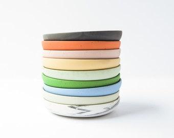 Concrete Jewelry Tray - Plant Tray - Jewelry Dish - Catchall Round Tray - Round Dish - Cement - Minimalist - Ring Holder- Modern - Drip Tray