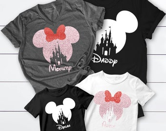 Family Shirts, Matching Ear Shirts, Castle Shirts, Castle Family Shirts, Family Trip Shirts, Family Trip Matching Outfit, Personalized Shirt