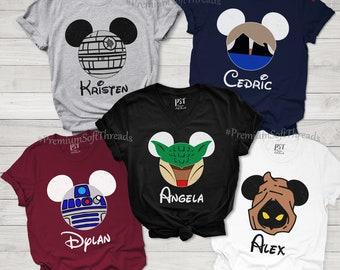 Family Matching Shirts, Family Vacation Shirts, Family Trip Shirts, Personalized Shirts, Birthday Matching Shirts, Cartoon Matching Shirts