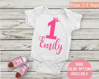16a5403af First Birthday Onesie - 1st Birthday Onesie - Custom Queen Onesie - Personalized  Birthday Onesie - Birthday Baby Girl - Baby Outfit