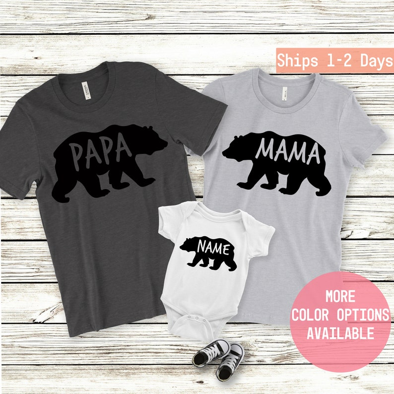 9c4aa219 Mama bear Shirt, Papa Bear Shirt, Baby Bear Shirt, Mommy and Me Outfit,  Bear, Baby Announcement, Family Shirt, Daddy And Baby Matching Shirt