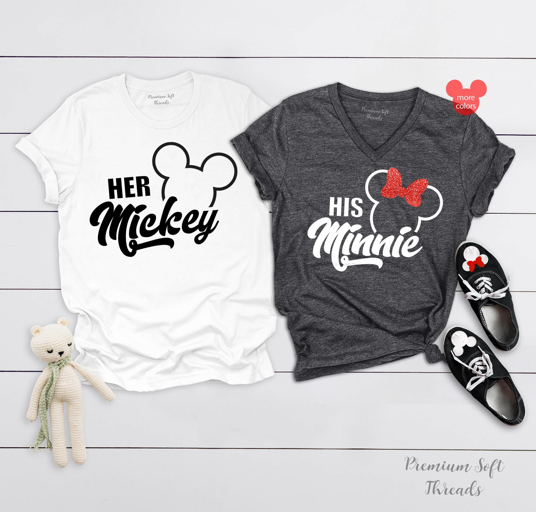 Her Mickey and His Minnie Shirts, Disney Couple Shirts, Matching Minnie  Mickey T-Shirts, Disney Trip Shirt, Disney Vacation Tanks