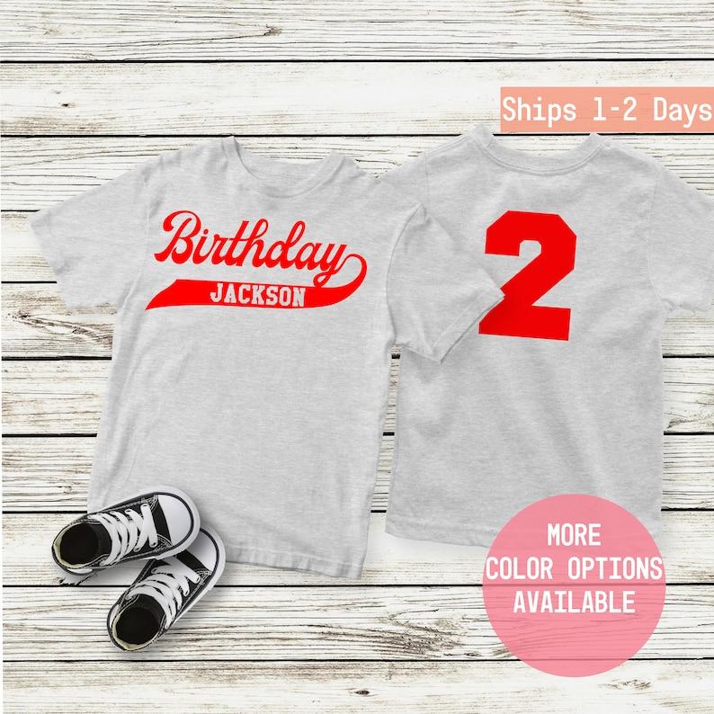 Birthday Baseball Shirt Boy Toddler