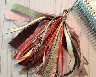 Fall Sunrise Planner Tassel - Pink, Brown, Gold, Coral