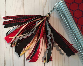 Buffalo Plaid Planner Tassel - Red, Black, Gray, Tan and Bronze