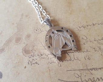 Horse head chain ~ silver ~
